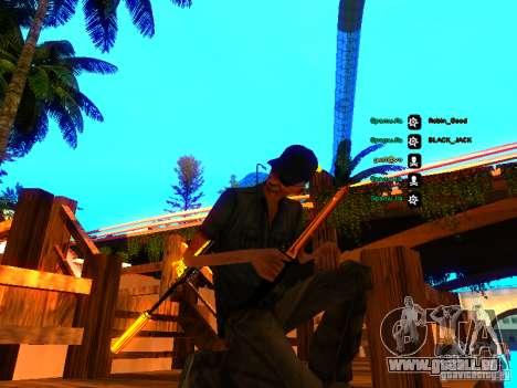 Black and Yellow weapons pour GTA San Andreas deuxième écran