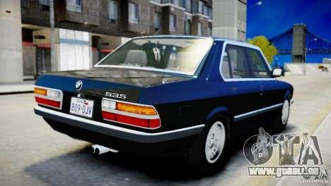 BMW 535 E28 pour GTA 4 est un droit