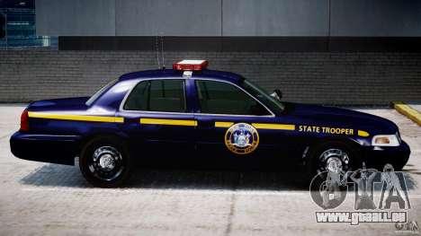 Ford Crown Victoria New York State Patrol [ELS] pour GTA 4 est une vue de dessous