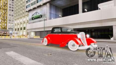 Ford Coupe 1934 für GTA 4 Unteransicht