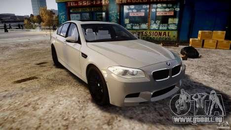 BMW M5 F10 2012 für GTA 4 Rückansicht