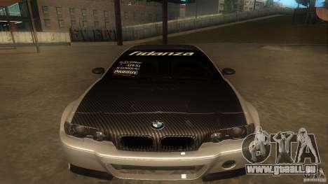 BMW E46 M3 Coupe 2004M pour GTA San Andreas laissé vue