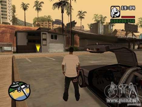 Crysis Delorean BTTF1 pour GTA San Andreas vue de droite