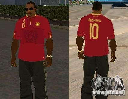 T-Shirt Arshavin für GTA San Andreas