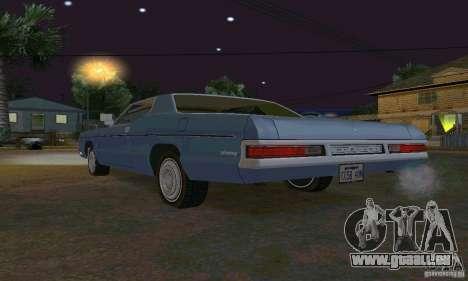 Mercury Monterey 1972 pour GTA San Andreas vue intérieure