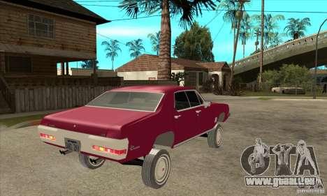 Pontiac LeMans pour GTA San Andreas vue de droite