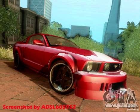 Ford Mustang GT 2005 Tunable für GTA San Andreas Rückansicht
