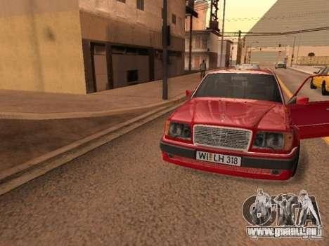 Mercedes-Benz E500 Taxi 1 für GTA San Andreas Innenansicht