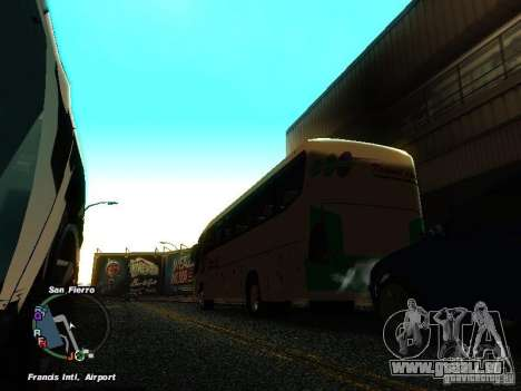 Bus Kramat Djati für GTA San Andreas zurück linke Ansicht