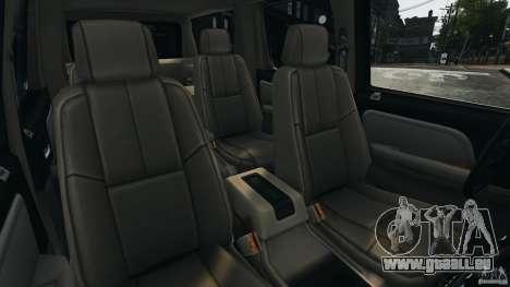Chevrolet Suburban GMT900 2008 v1.0 pour GTA 4 est une vue de l'intérieur
