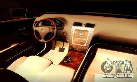 Lexus GS430 pour GTA San Andreas vue arrière