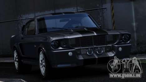 Ford Shelby Mustang GT500 Eleanor für GTA 4 Rückansicht