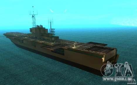 New Aircraft carrier für GTA San Andreas zurück linke Ansicht