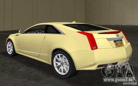 Cadillac CTS-V Coupe für GTA Vice City zurück linke Ansicht