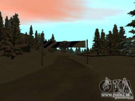 Winterwanderweg für GTA San Andreas zweiten Screenshot