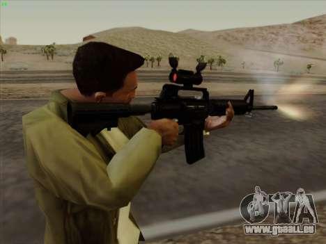 Colt Commando Aimpoint pour GTA San Andreas sixième écran