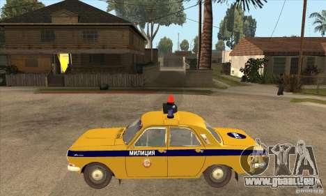 GAZ Volga 2401 Police pour GTA San Andreas laissé vue