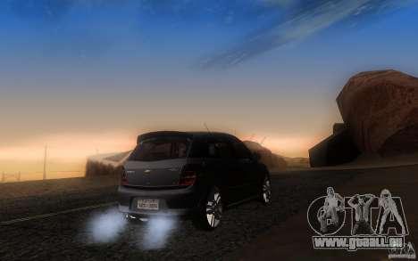Chevrolet Agile 2012 für GTA San Andreas zurück linke Ansicht