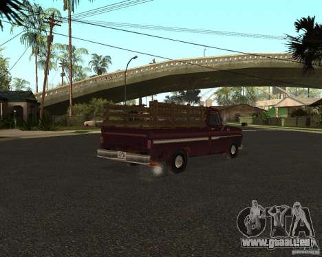 Chevrolet C 10 pour GTA San Andreas laissé vue