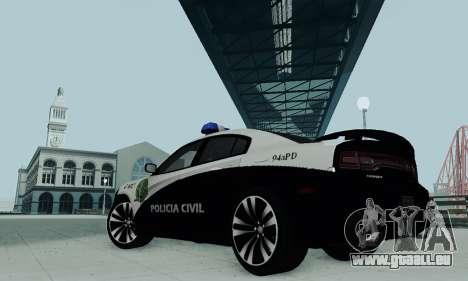 Dodge Charger 2012 Police für GTA San Andreas zurück linke Ansicht
