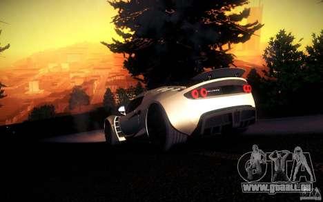 Hennessey Venom GT 2010 V1.0 pour GTA San Andreas vue de dessus