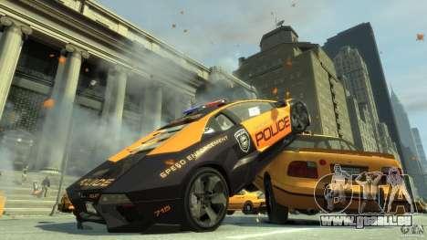 Lamborghini Reventon Police Hot Pursuit pour GTA 4 Vue arrière de la gauche