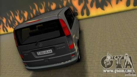 Mercedes-Benz Vito 2007 pour GTA Vice City sur la vue arrière gauche