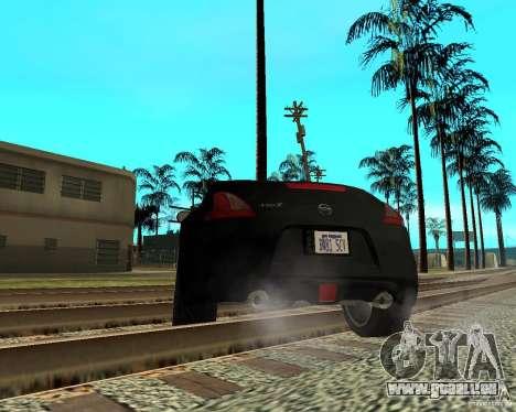 Nissan 370Z v2.0 pour GTA San Andreas sur la vue arrière gauche