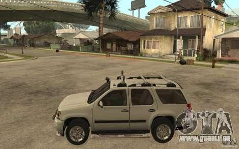 Chevrolet Tahoe pour GTA San Andreas laissé vue