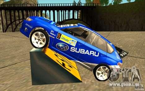 Nouveau vinyle pour Subaru Impreza WRX STi pour GTA San Andreas laissé vue