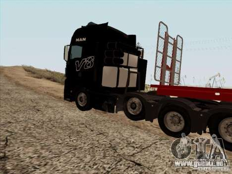 MAN TGX 8x4 für GTA San Andreas Rückansicht