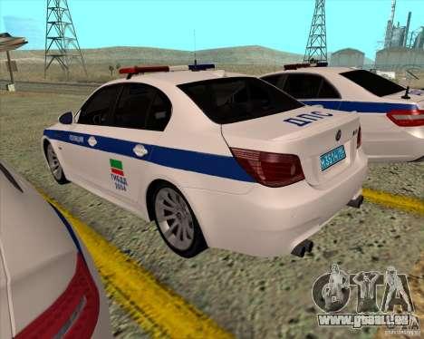 BMW M5 E60 DPS pour GTA San Andreas sur la vue arrière gauche