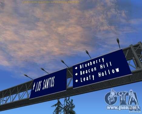 Route signes v1.1 pour GTA San Andreas