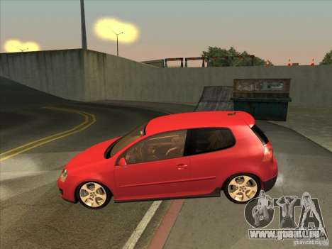 VW Golf Mk5 GTi - Stock: Tunable pour GTA San Andreas laissé vue