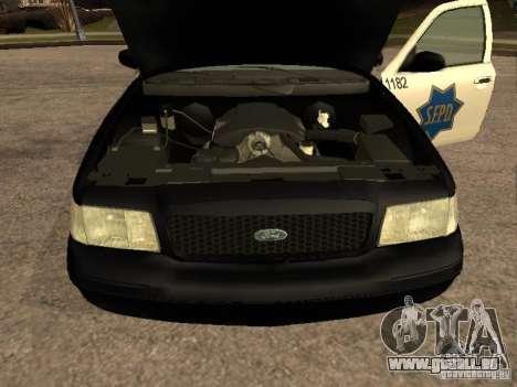 Ford Crown Victoria 2003 Police für GTA San Andreas rechten Ansicht
