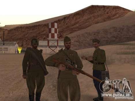 Peau de soldat soviétique de guerre mondiale II pour GTA San Andreas