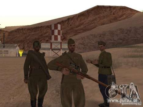 WORLD WAR II sowjetischer Soldat-Haut für GTA San Andreas