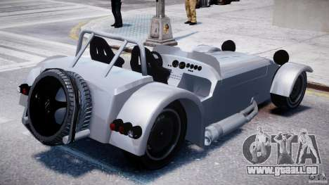 Caterham Super Seven pour GTA 4 est une vue de l'intérieur