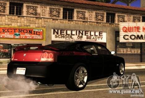 Dodge Charger R/T Daytona für GTA San Andreas obere Ansicht