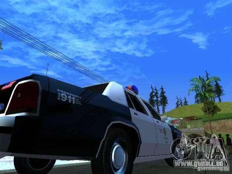 Ford Crown Victoria LTD 1992 LSPD für GTA San Andreas Innenansicht