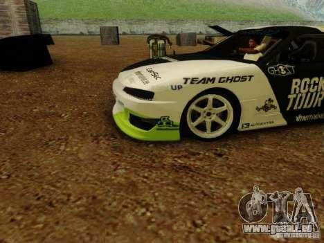 Nissan S14A Team Ghost pour GTA San Andreas sur la vue arrière gauche