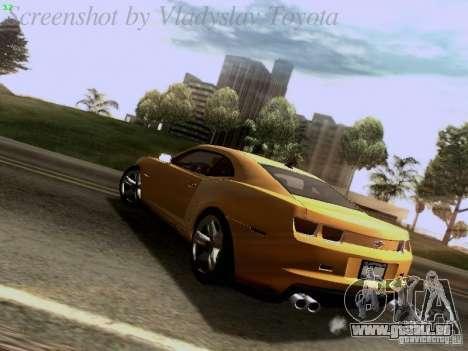 Chevrolet Camaro ZL1 2012 für GTA San Andreas zurück linke Ansicht