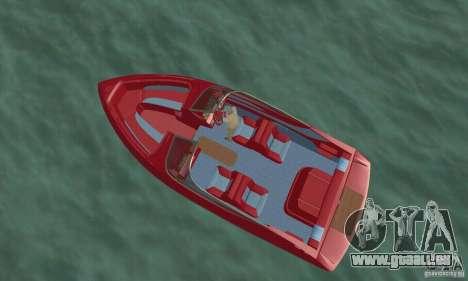 Speedboat pour GTA San Andreas sur la vue arrière gauche