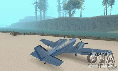 Beechcraft Baron 58 T pour GTA San Andreas laissé vue