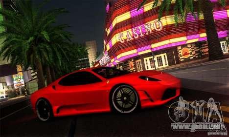 Ferrari F430 Novitec Rosso für GTA San Andreas zurück linke Ansicht