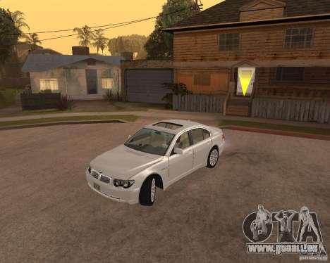 BMW 760I 2002 pour GTA San Andreas