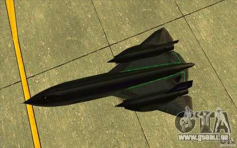 SR-71A BLACKBIRD BETA für GTA San Andreas Seitenansicht