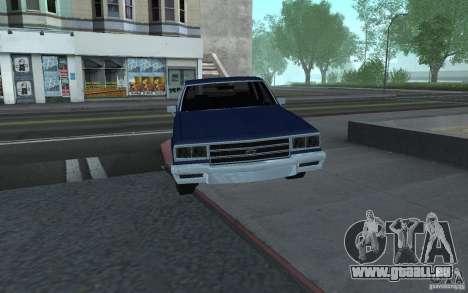 1983 Chevrolet Impala pour GTA San Andreas sur la vue arrière gauche