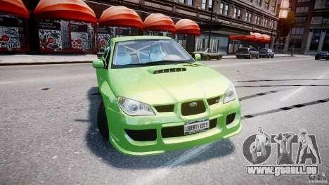 Subaru Impreza STI Wide Body pour GTA 4 est un côté