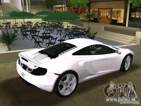 Mclaren MP4-12C pour GTA Vice City vue arrière